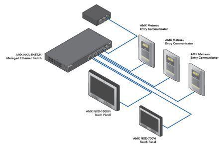 Схема подключения домофона AMX без дисплея.